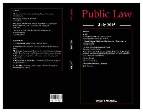 Public Law July 2015 cover-page